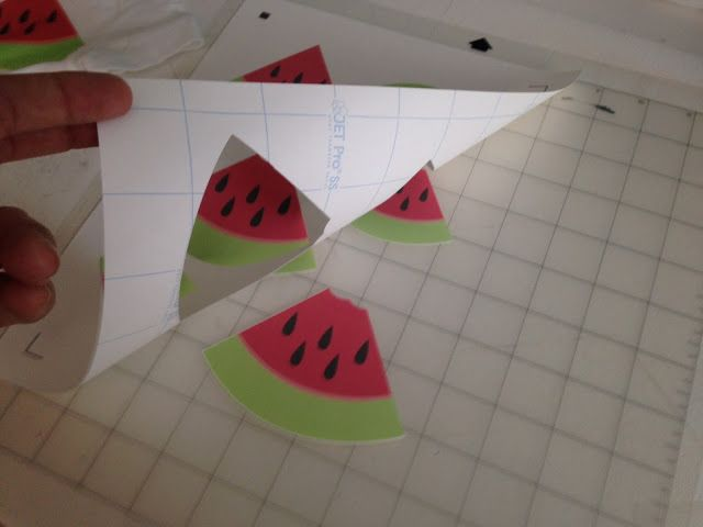 Finally! A printable heat transfer vinyl material that can be print and cut with Silhouette CAMEO or Portrait! And the best part - it can be printed on an inkjet printer and won't fade or bleed in the wash!