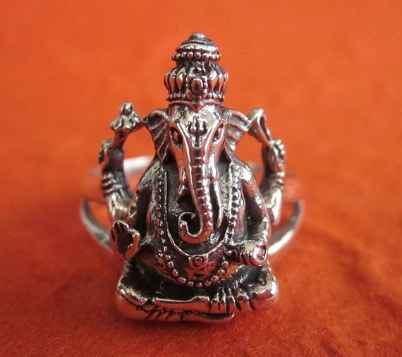 Bali 925 Sterling Silver Ganesha Ring / sterling silver handmade jewelry / Size: 8 ready to ship