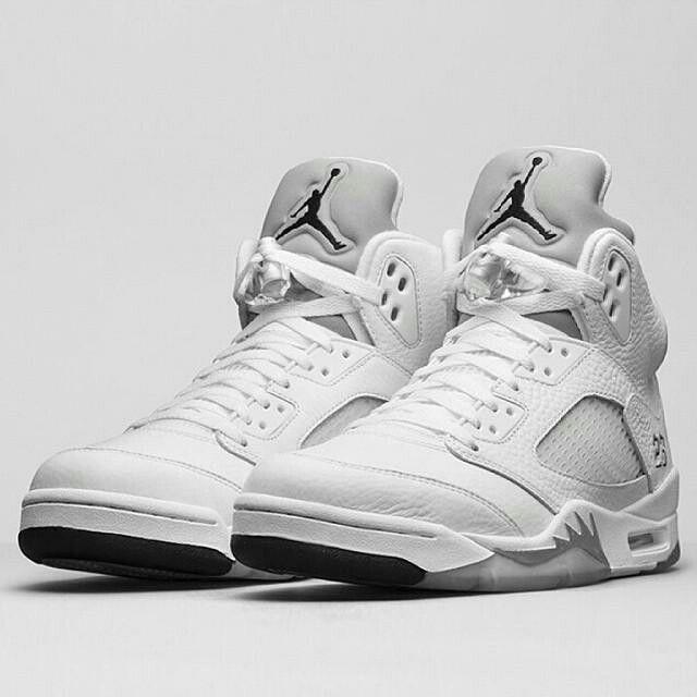 Air Jordan V White/Metallic