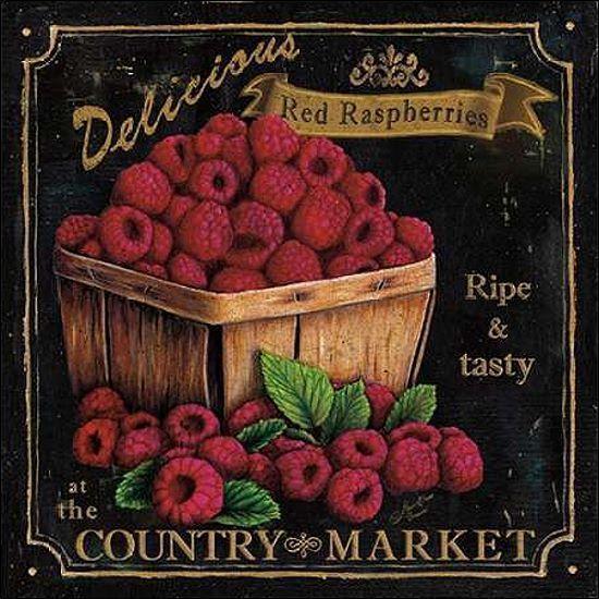 Marie-Elaine Cusson: Country Market IV Keilrahmen-Bild Leinwand Obst Küche Deko