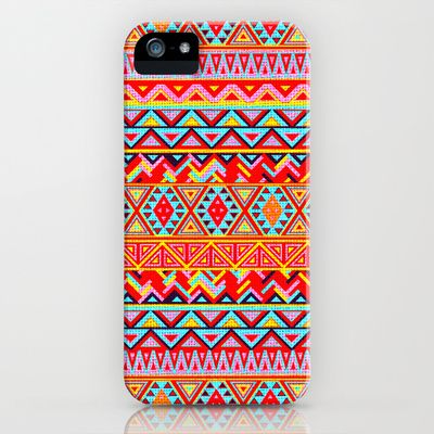 India Style Pattern (Multicolor) iPhone Case by Maximilian San - $35.00  Aztec, Pattern, Neon, Fluo, Tribal, Love, India, Multicolor,