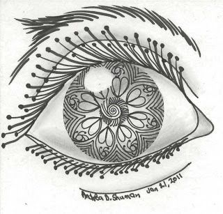 Eye Zentangle from Cookie's World: January 2011
