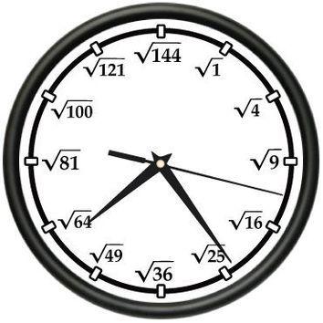 SQUARE ROOT Wall Clock math teacher calculator new gift