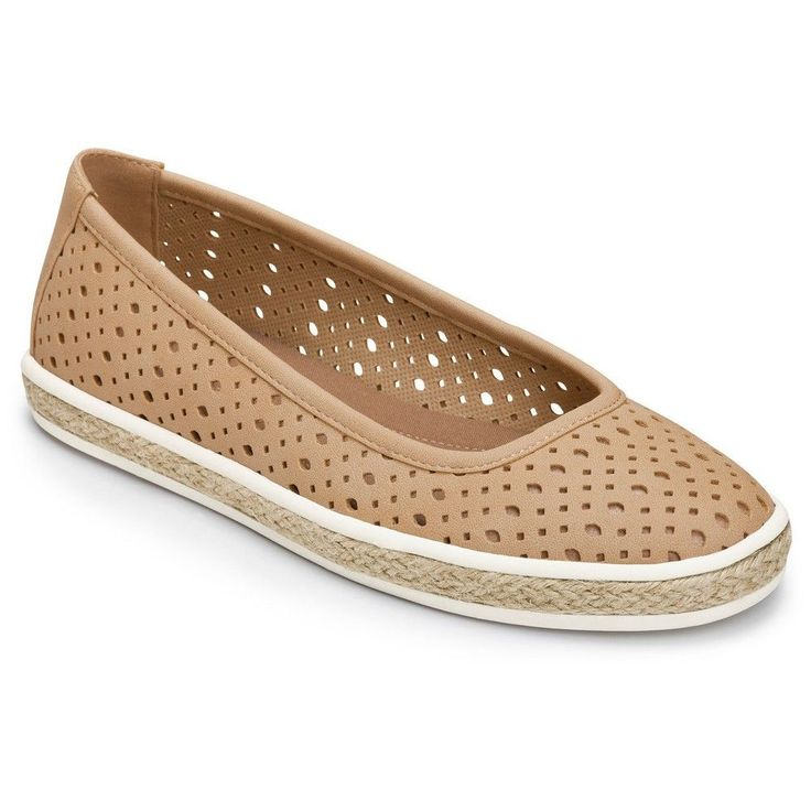 Women's A2 by Aerosoles Trust Fund Perforated Loafers - Tan 10.5