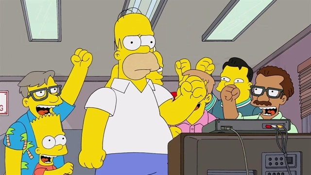 AHHHHH IT'S A CLIP FROM BENEDICT'S SIMPSON'S EPISODE AND YOU GET TO HEAR HIM AND HE'S FANFUCKINTASTIC AND YOU GET TO HEAR HIM DO RICKMAN!!!!!!!!!! (knew he was doing his impersonation but AGH HEARING EVEN A LITTLE SNEAK PEAK IS FANTABULOUS!!!!! {FOX Broadcasting Company - The Simpsons TV Show - The Simpsons TV Series - The Simpsons Episode Guide - Decisive Action}