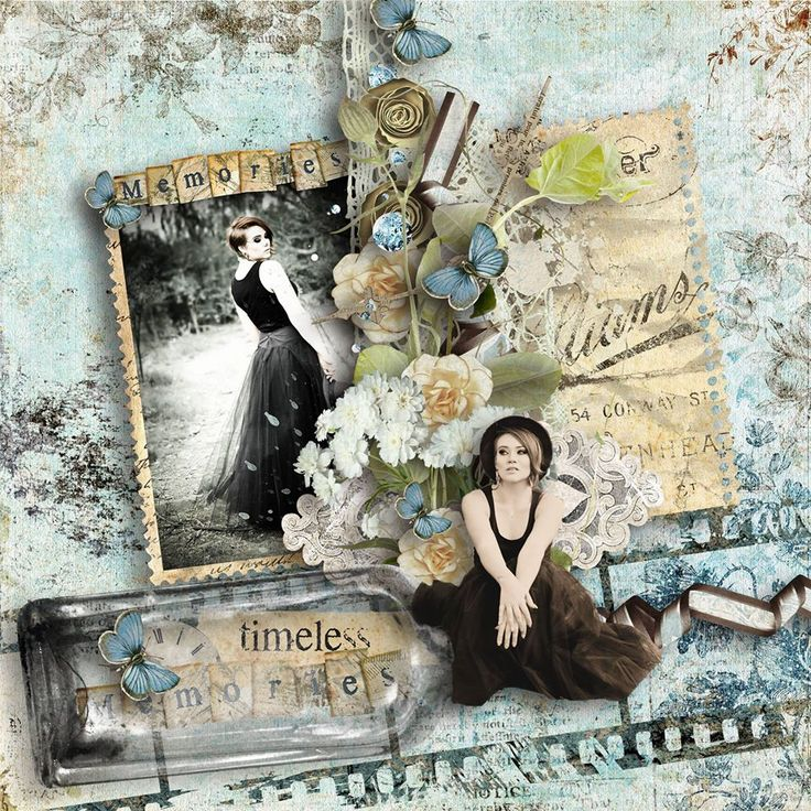 "Kit: ""Memories in a bottle"" by Studio Manu http://shop.scrapbookgraphics.com/memoriesbottle-bundle.html"