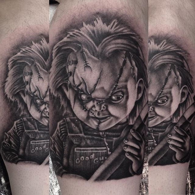 25 best ideas about chucky tattoo on pinterest cartoon tattoos horror movie tattoos and. Black Bedroom Furniture Sets. Home Design Ideas