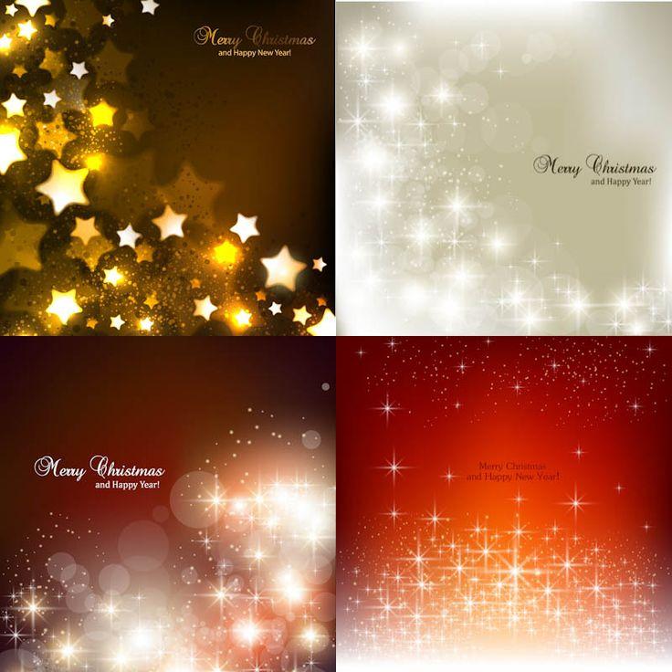 Stars Christmas backgrounds vector