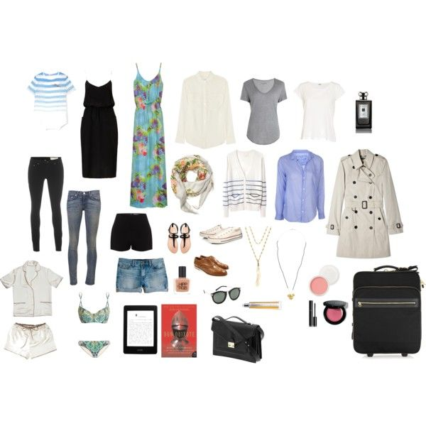 Packing list for Spain and France by abbeyps on Polyvore featuring polyvore, fashion, style, A.L.C., Boutique, Equipment, Eberjey, Frank & Eileen, Band of Outsiders and Zadig & Voltaire