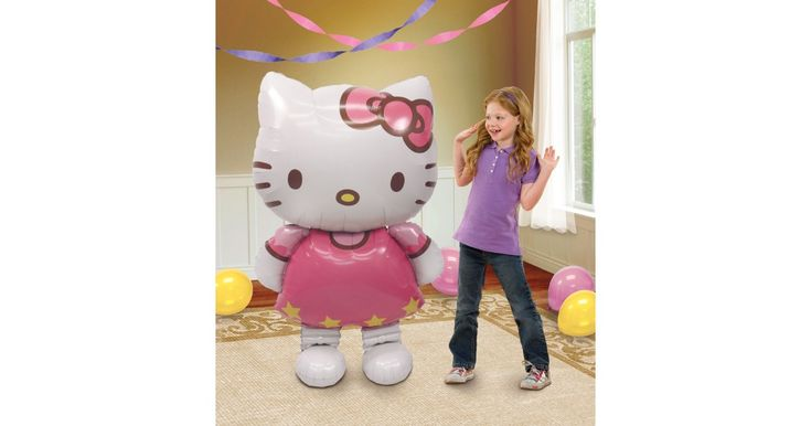 I found this great Birthday Party idea on BirthdayExpress.com. Hello Kitty AirWalker Foil Balloon, Birthday Express helps create memories that last a lifetime - click here to start the fun!