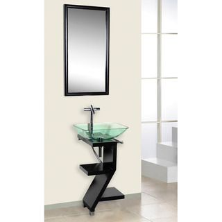 Photo Gallery In Website Add a modern touch to your bathroom with this space saving bathroom vanity from DreamLine Crafted from rubberwood with a sleek black finish this vanity is