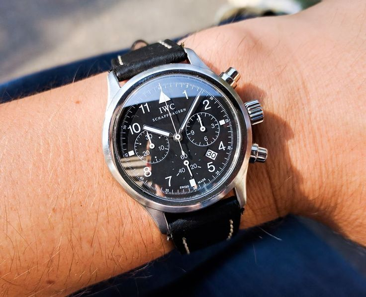 IWC Flieger chronograph watch with it's quartz-manual movement