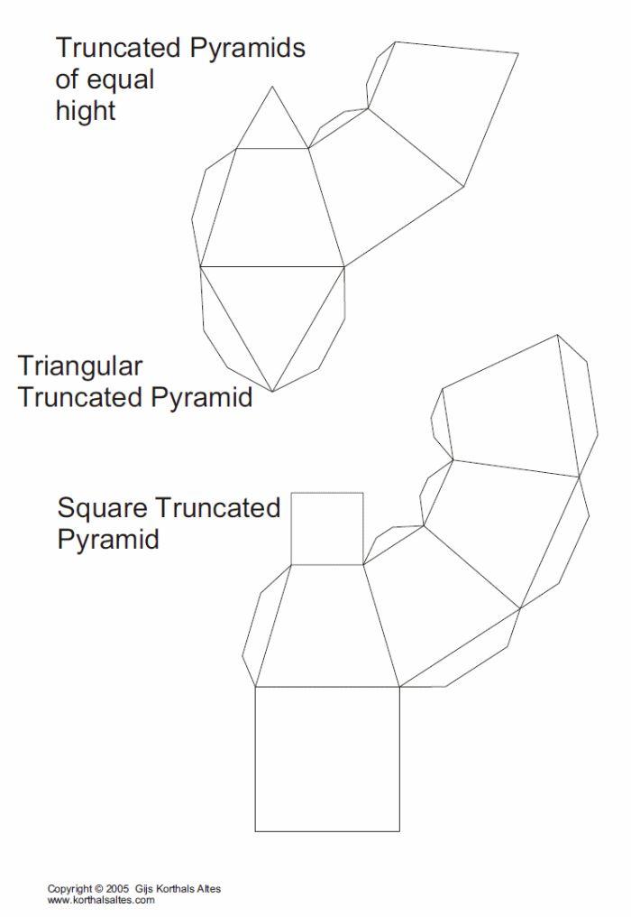 Net truncated triangular pyramid