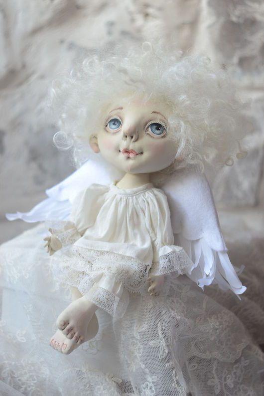 Коллекционные куклы ручной работы. Ярмарка Мастеров - ручная работа. Купить когда отдыхают ангелы.... Handmade. Белый, счастье, поликоттон