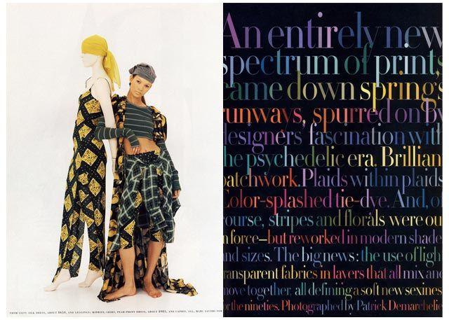Harper's Bazaar two-page spread designed under the creative direction of famous art director, Fabien Baron.