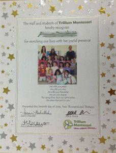 A Simple Montessori Graduation from Trillium Montessori