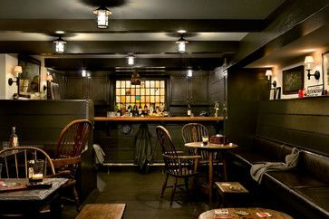 Crisp Architects - traditional - basement - new york - Crisp Architects » This basement PUB is amazing! Would you ever leave?!