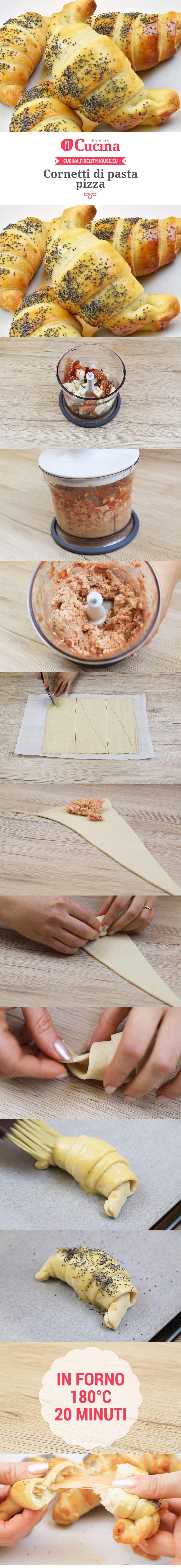 Cornetti di pasta pizza