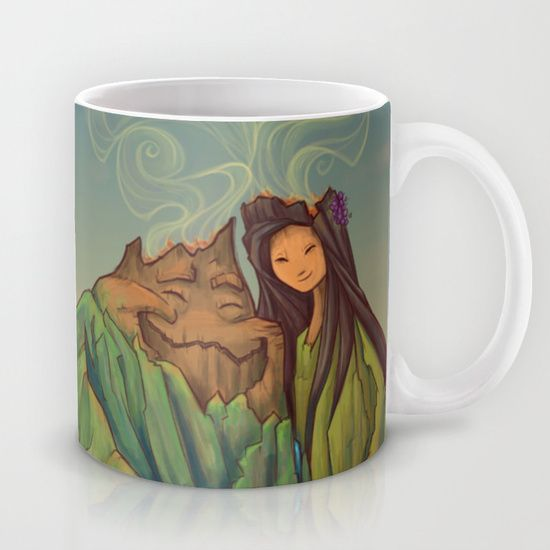Volcano+Love+Mug+by+Karen+Hallion+Illustrations+-+$15.00