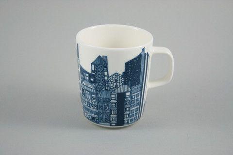 Marimekko 'Siirtolapuutarha' City Scape Mug | Nook