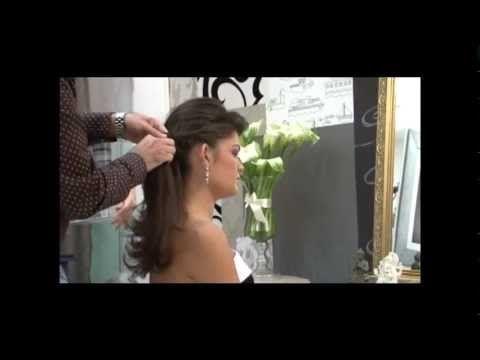 Penteado para madrinha, noivas e debutantes by Jr. Dias - YouTube