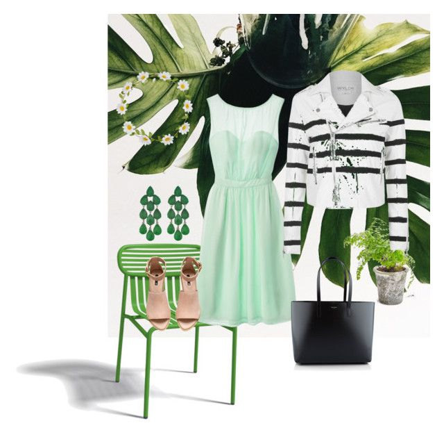 """""""Fresh spring """" by ro-mondryk on Polyvore featuring Oxyo, Tevolio, Siman Tu, Carole, Yves Saint Laurent, H&M and Topshop"""