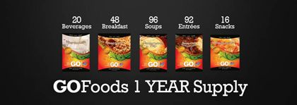 1-Year Food Supply Item #: USGF0035 This pack provides you with a 1-Year Supply of GOFoods!  #survivalist #survivalistfood #longtermfoodstorage #prepper survivalist/prepper