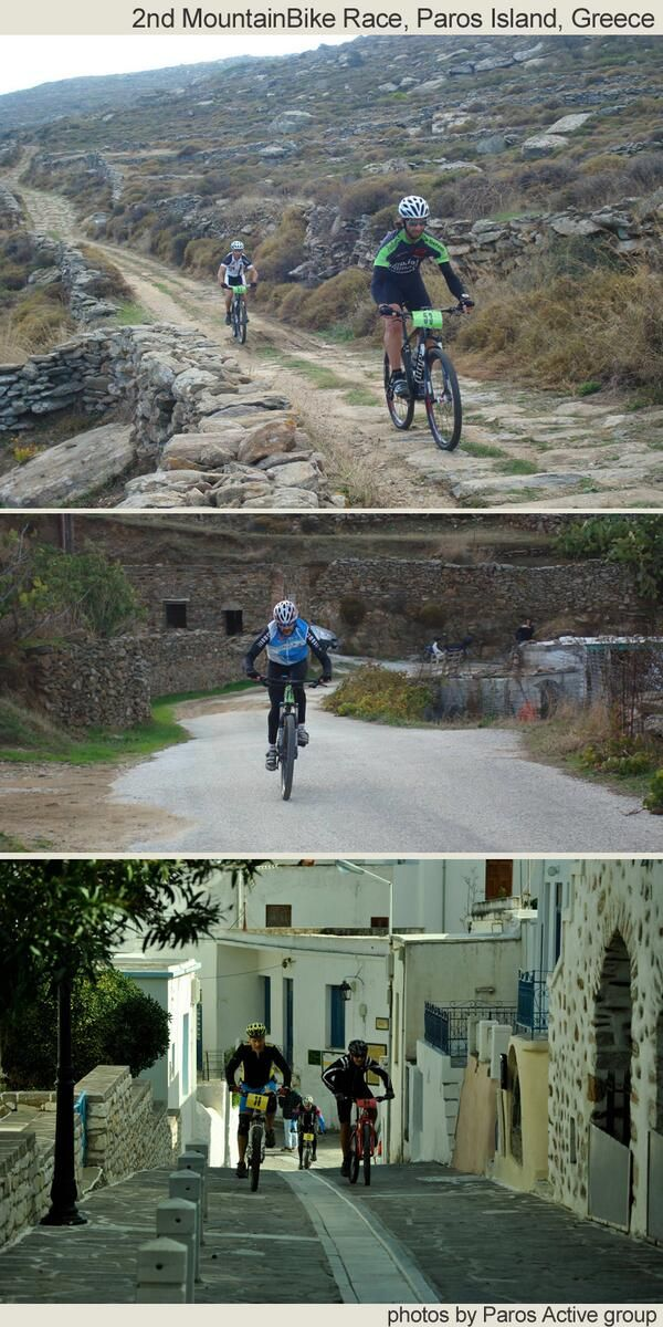 Photos of 2nd Mountain Bike Race on #Paros Island, #Greece 17 Nov. #mountainbike #Paros, #Greece, #Greek islands