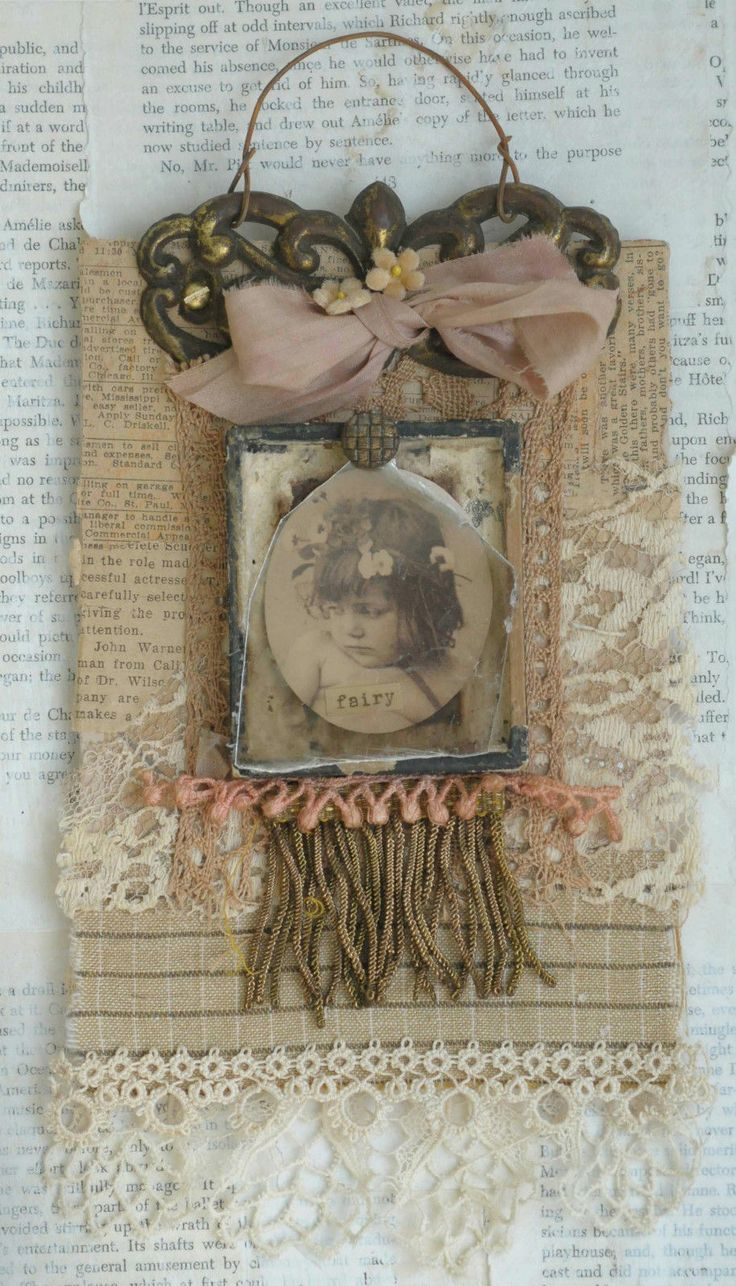 Mixed Media Fabric Wall Hanging of Little Fairy Girl | eBay