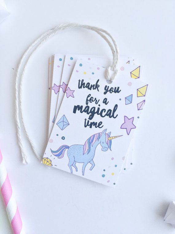 Unicorn Birthday Favor Tags. Unicorn Party by PrintSmitten on Etsy