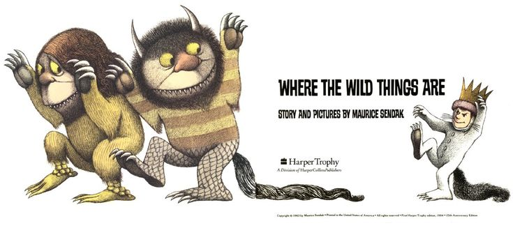 "happy_book_year: 60. Морис Сендак, ""Где обитают чудовища""/Maurice Sendak, ""Where the Wild Things Are"""