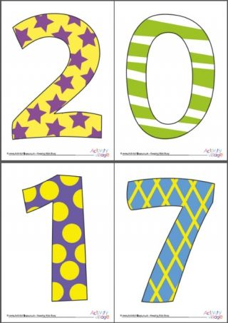 2017 Display Numbers Patterned