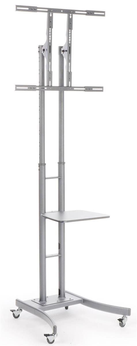 """Displays2go MB863ESLV Portable TV Stand with Wheels for LCD/Plasma/LED TVs Between 32 & 65"""", Steel"""