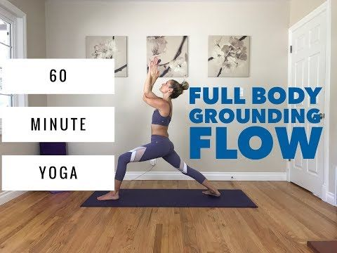 Power Vinyasa Yoga - 60 Minute Full Body Flow for Grounding & Balance - YouTube
