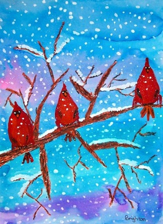 Winter cardinals Grade 4