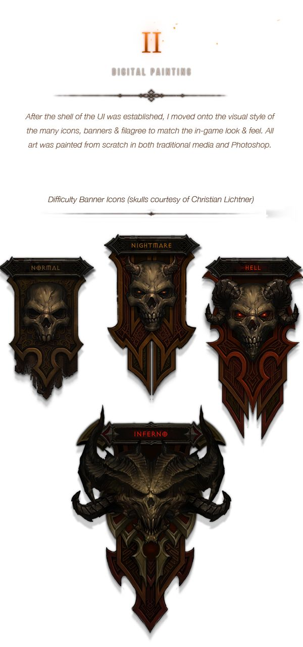 Diablo III UI Art & Design on Behance
