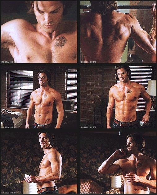 Image result for sam winchester shirtless