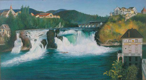 Schaffhauseni vízesés Csontváry Kosztka Tivadar Magyar Nemzeti Galéria