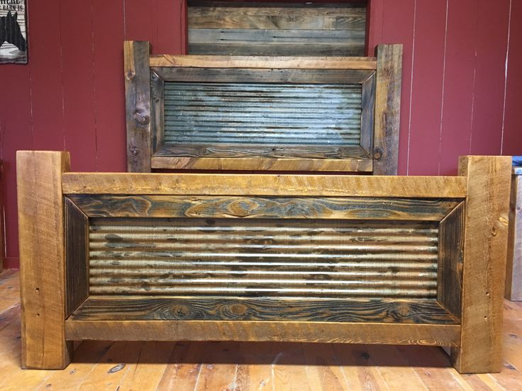Furniture Rustic Wood Bed Headboards With Mantel Having: 25+ Best Ideas About Barn Tin On Pinterest