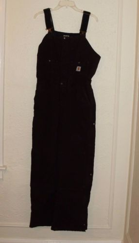 Women-039-s-Carhartt-Insulated-Bib-Overalls-WR027-10x30-29-New-with-tags