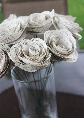 Роза из бумаги - Поделки с детьми   Деткиподелки