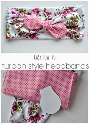 Oh I adore this trend! DIY Turban Style Headband Tutorial - simple as that
