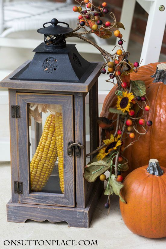 Easy Fall Porch Decor   Inspiration for adding a welcoming touch of Fall to your porch. Budget-friendly and fun ideas that are simple and quick!