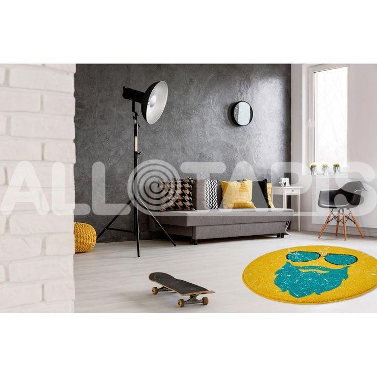 12 best tapis jaune images on pinterest yellow rug. Black Bedroom Furniture Sets. Home Design Ideas