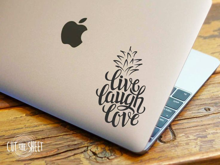 Pineapple Sticker - Live laugh love - Laptop Decal - Laptop Sticker - Car Sticker - Car Decal by Cutthesheet on Etsy https://www.etsy.com/listing/251526876/pineapple-sticker-live-laugh-love-laptop