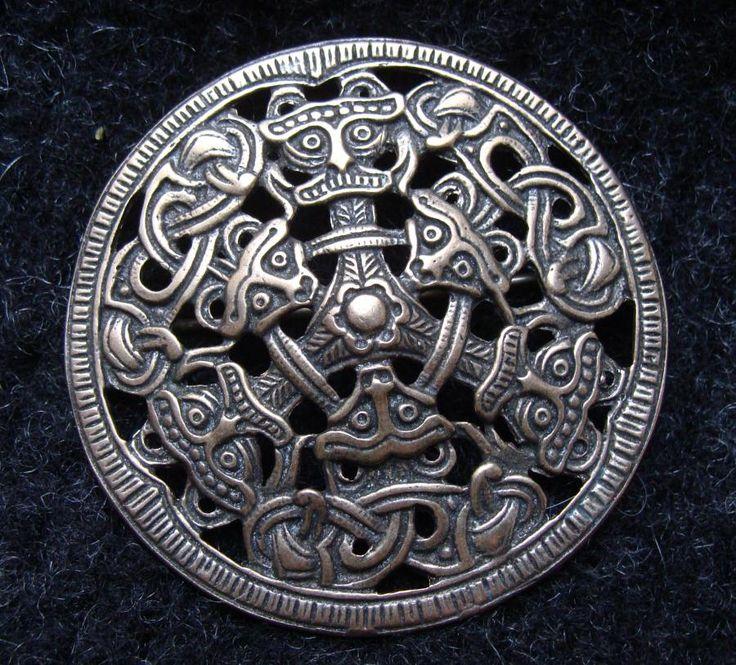 "Large #Danish #brooch, silver, replica of a ""viking age"" brooch. I love #Wulflund jewelry... bronze age replicas."