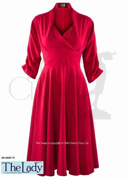 1950s Wrap Circle Dress - red