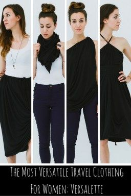 The Most Versatile Travel Clothing For Women - 1 piece of fabric, 30 different looks!