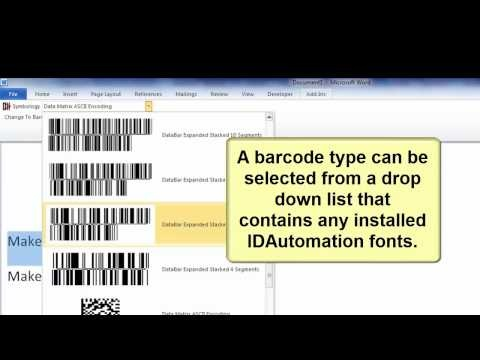 Word Barcode Add-in Tutorial for 2003, 2007, and 2010