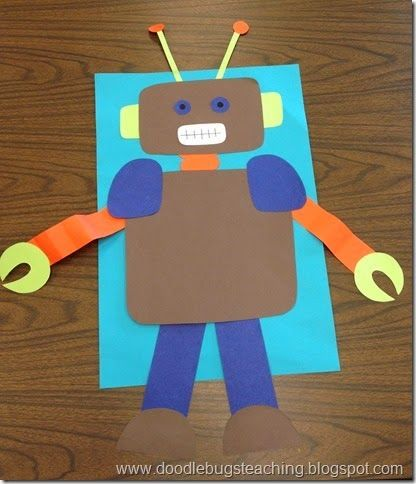 how to make a simple paper robot